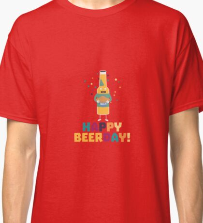 Happy Beerday Beerbottle Rhnp3 Classic T-Shirt