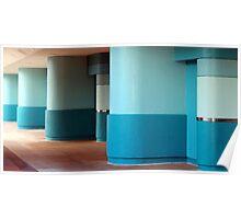 Blue Pillars Poster