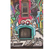 Window teeth cork street art Photographic Print