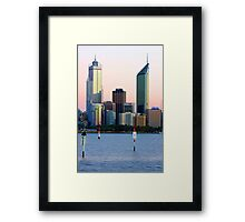 Perth Towers At Sunrise  Framed Print