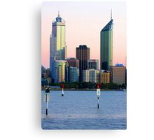 Perth Towers At Sunrise  Canvas Print