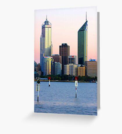 Perth Towers At Sunrise  Greeting Card