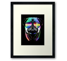 Music Love Pug Framed Print