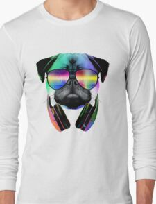 Music Love Pug Long Sleeve T-Shirt