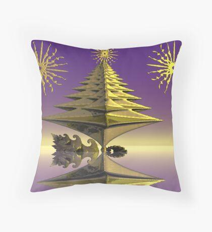 Tree vane tower Throw Pillow