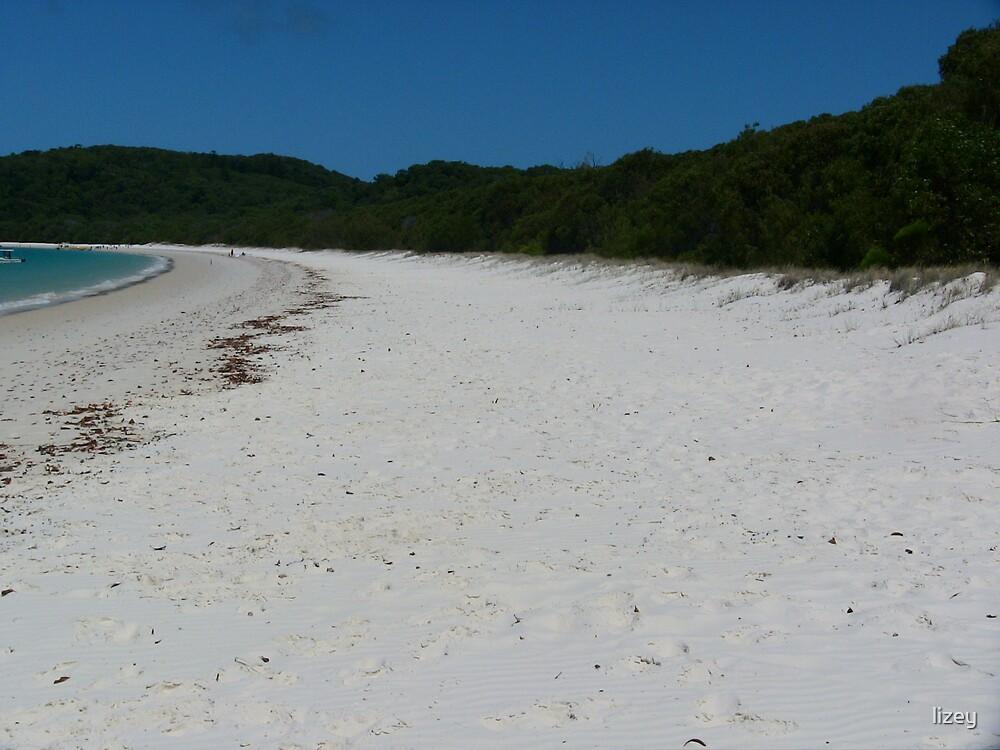 Whitehaven Beach Whitsunday Island by lizey