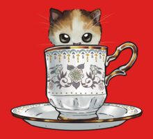 Kitten in a Tea Cup Kids Clothes