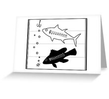 """""""Fish Scales"""" -- A Duet (Musical Fish) Greeting Card"""