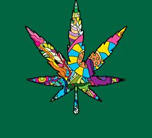 Magic mushroom pattern hippie marijuana leaf symbol  Unisex T-Shirt