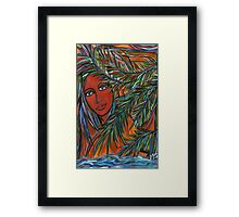 mar y tierra ( land and sea) Framed Print