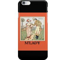 Vintage M'lady iPhone Case/Skin