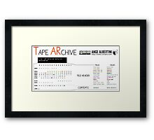 .TAR: the Tape Archive Framed Print