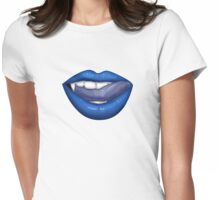 VAMPIRE LIPS - BLUE Womens Fitted T-Shirt
