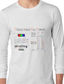 .TIFF : Tagged Image File Format (big endian) Long Sleeve T-Shirt
