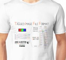 .TIFF : Tagged Image File Format (big endian) Unisex T-Shirt
