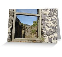 Through the Window, Charles Fort, Kinsale Greeting Card