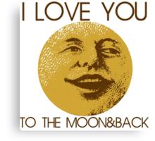 Vintage moon love Canvas Print