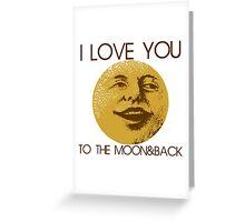 Vintage moon love Greeting Card