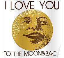 Vintage moon love Poster