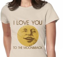 Vintage moon love Womens Fitted T-Shirt