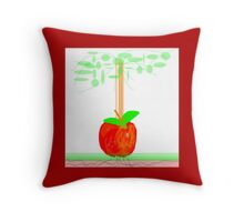 APPLE TREE abstract design Throw Pillow