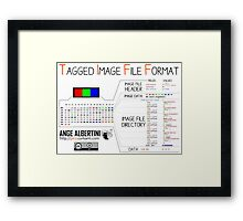 .TIFF : Tagged Image File Format (little endian) Framed Print