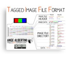 .TIFF : Tagged Image File Format (little endian) Canvas Print