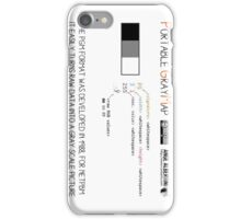 .PGM: Portable Graymap iPhone Case/Skin