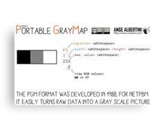 .PGM: Portable Graymap Canvas Print