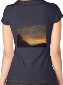 Sunset through Dark Clouds Women's Fitted Scoop T-Shirt