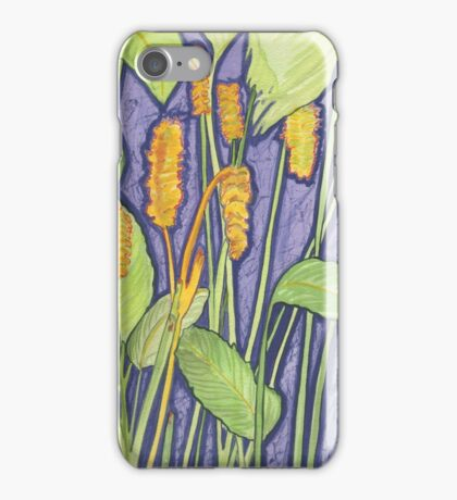 Gold Sticks Botanical Lynda Silva iPhone Case/Skin