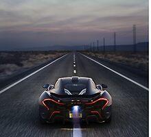 Flaming McLaren P1 by djoc444
