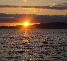 Sunset at Sunnyside Beach by Leighanne Tamaalii