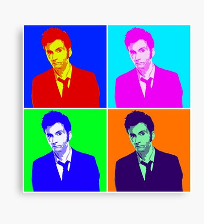 Doctor Who Warhol Canvas Print