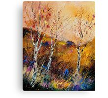 3 poplars losing their leaves  Canvas Print