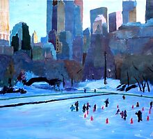New York Central Park - Ice and Winter in Manhattan by artshop77