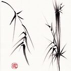 """""""Tao"""" Original sumi-e brush painting on paper. by Rebecca Rees"""