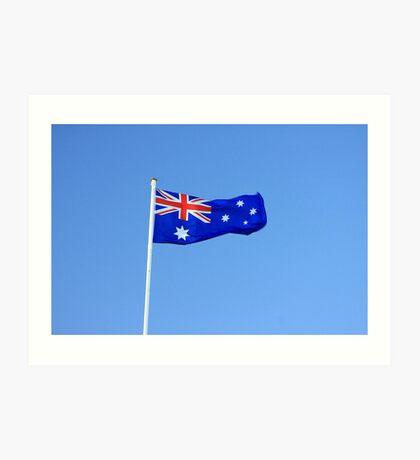 Australian Flag Art Print