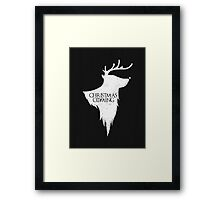 Christmas is Coming - Geeky GOT Christmas Shirt Framed Print