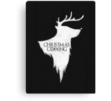 Christmas is Coming - Geeky GOT Christmas Shirt Canvas Print