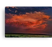 Sunset Thunderstorms Upon the Plains Canvas Print