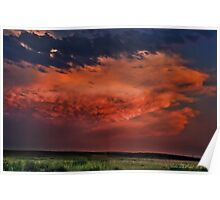 Sunset Thunderstorms Upon the Plains Poster