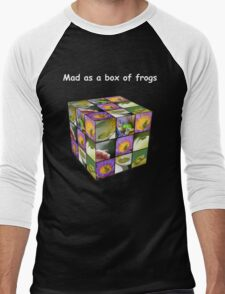 Mad as a box of frogs - darks Men's Baseball ¾ T-Shirt