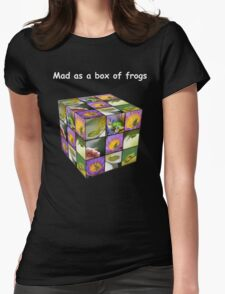 Mad as a box of frogs - darks Womens Fitted T-Shirt