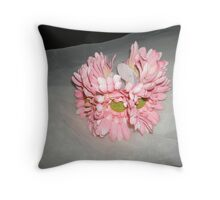 "wedding headpiece name ""Elsa""- crown of flowers   Throw Pillow"