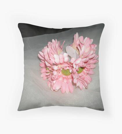 "wedding headpiece name ""Elsa""- crown of flowers   Throw Pillow"