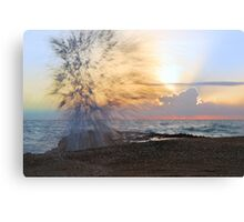 Fireworks at Sunrise Canvas Print