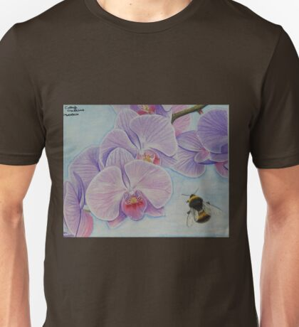 Bee aproaching Phalaenopsis Orchid Unisex T-Shirt