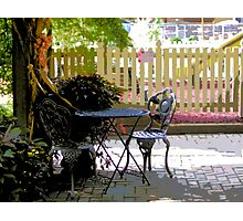 Comic Abstract Cozy Table For Two Photographic Print