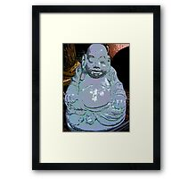 Comic Abstract Buddha Framed Print